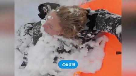 惊险!两女子滑雪遇雪崩被埋 热心人士合力将人救出