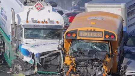 加拿大200辆车连环相撞 已致2死近70人伤