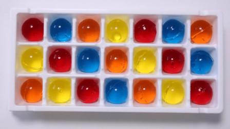 """能吃的""""海洋宝宝""""你见过吗?没想到是Q弹的彩虹果冻球啊!好吃好玩"""