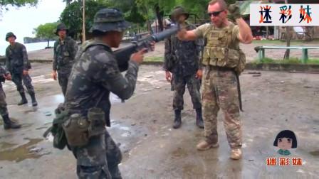 天下武功,唯快不破,看看美军这位教官,刀比枪还快!