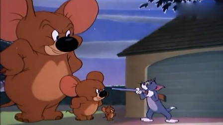 猫和老鼠:汤姆愣住了,竟有三个大小的杰瑞,他快疯掉了