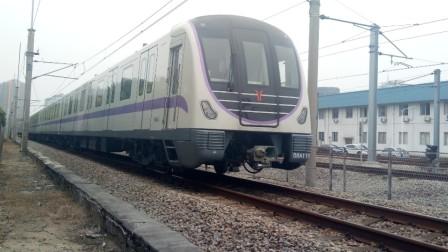 【远古地铁视频】广州地铁2/8号线 A5型列车08109-110在坑口站起步进入西朗车辆段试车线