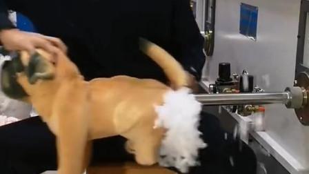 毛绒玩具冲棉机,没想到是这样生产出来的