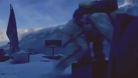 后天:奎德看了眼美国国旗,突然感觉不对劲,赶紧往雪地下面钻