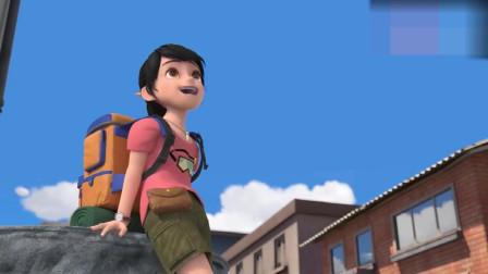 熊出没:赵琳回到小时候住的小镇,买了最喜欢吃的糖葫芦吃!