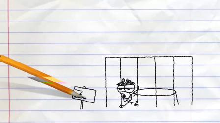阿呆被关进狮子的牢笼中,这是怎么回事?铅笔画小人游戏