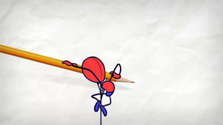 阿呆变成了蜘蛛人他想要去做什么大事?铅笔画小人