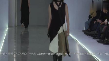 时装秀:高调的拼接连衣裙,露出健康的小麦色皮肤,气质过人!