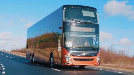 [中英双语字幕]全球首发 在瑞典试驾全新 沃尔沃9700 DD双层巴士