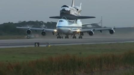 波音747驮运航天飞机远程转场飞行