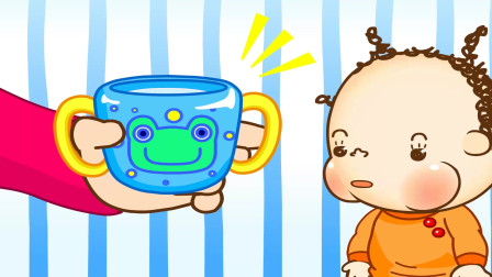 兜兜好习惯养成:坐在儿童汽车安全座椅上 用杯子喝双享版
