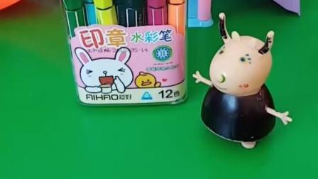 羚羊老师给同学发水彩笔,光头强来要水彩笔,可是他是班上的学生吗?