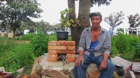 国外牛人用几块砖头给你搭建一个高效炉子