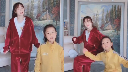 太有爱!李小璐甜馨运动装跳舞,一个甜一个酷像极姐妹