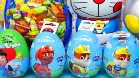 汪汪队立大功史努比玩具蛋 和托马斯一起拆奇趣蛋