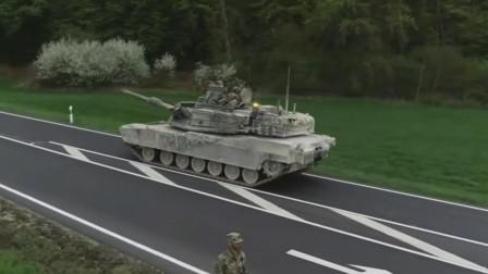 63吨M1A2坦克在公路上高速奔驰不会对路面破坏
