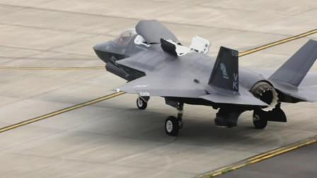 最强单发战机F-35B隐形战机展示空中悬停能力