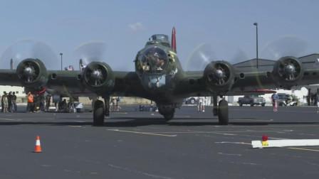 世界上第一架全金属机身的4发轰炸机,B-17轰炸机