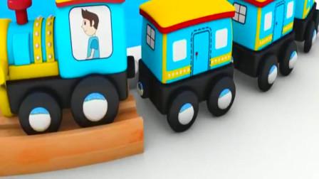 给小火车铺轨道运输货物和客人