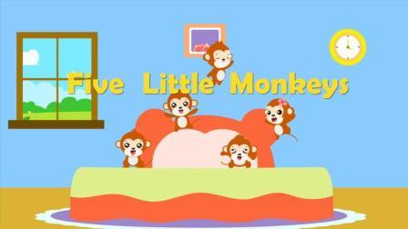 优秀早教启蒙童谣之贝乐虎英文儿歌《Five Little Monkeys》