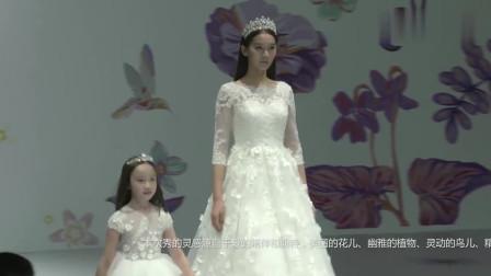 时装秀:洁白的刺绣纱裙,蓬松的下摆设计,仙气又动人!