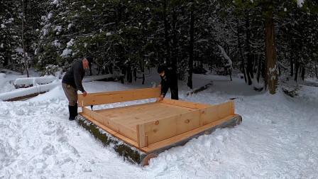 野外生存 一天内建造一个小木屋