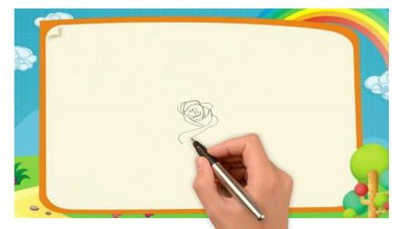 一朵大玫瑰花简笔画的画法