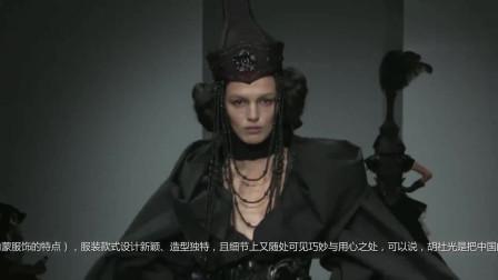 时装秀:黑色鱼尾裙,深V设计大秀性感,修身的剪裁凸显纤细蛮腰
