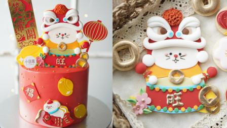 [小团圆果子教室]2020鼠于你的福气新年翻糖糖牌创意蛋糕