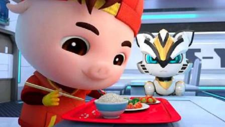 猪猪侠:扒拉一口饭要吃30粒米,一口汤要喝15毫升,日子没法过了