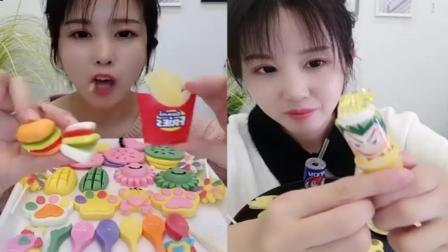 小姐姐直播吃:小披萨糖、果冻雪糕,你最喜欢哪个呢