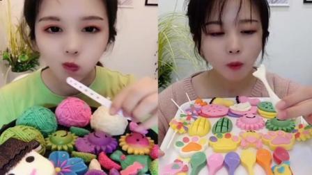 小姐姐直播吃:各种巧克力糖,看着好想吃,你喜欢吃巧克力吗
