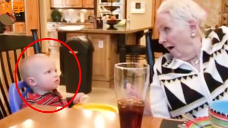 奶奶吃饭时突然摘掉假发,宝宝下一秒反应,把全家彻底逗笑了