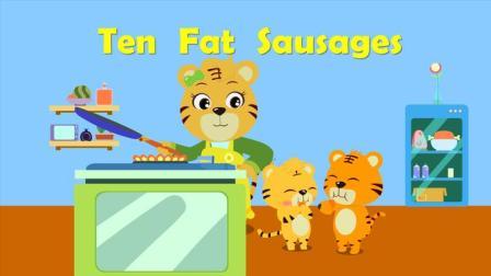 优秀早教启蒙童谣之贝乐虎英文儿歌《Ten Fat Sausages》