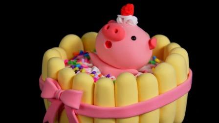 超轻黏土手工坊 美食总动员 香味浓郁的蛋糕