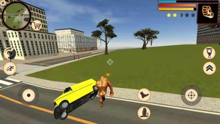 石巨人:熔浆出现熔浆巨人能把路上的汽车都踢飞吗