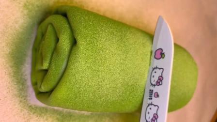 抹茶毛巾卷的家常做法,教程详细,简单易学,学会做给孩子吃