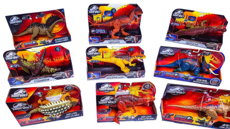 炫彩恐龙玩具霸王龙阿马加龙玩具拆箱