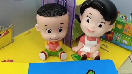 大头的玩具小汽车不见了,你知道他的小汽车在哪吗?快告诉他吧