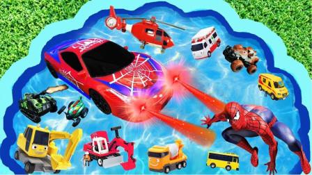 汽车总动员,挖掘机、消防车、警车,你喜欢的小汽车这里都有