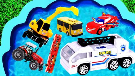 汽车玩具总动员,消防车、救护车、挖掘机,你想要哪一个?