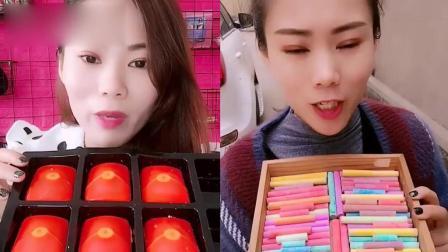小姐姐直播吃:彩色红包糖果,一口超过瘾,我童年向往的生活
