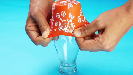 家里这样的玻璃瓶千万别丢,套上个气球,非常实用,学到就是赚到