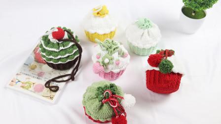 超越妈咪手工坊【圣诞树-纸杯蛋糕包】完整钩织教程