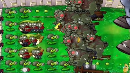 植物大战僵尸:把植物这样围成一圈之后,一大群的僵尸冲进来都毫发无损!