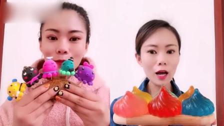 美女试吃:彩色包子、八爪鱼糖果,一口超过瘾,是我向往的生活