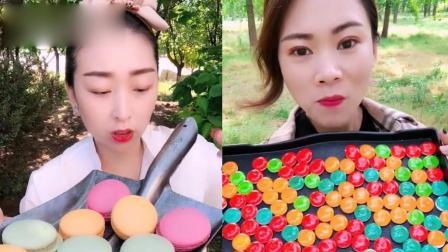 小姐姐试吃:彩色糖果、马卡龙,一口超过瘾,是我向往的生活