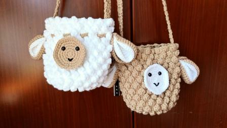 婷婷编织第128集下  绵羊包包各个配件的钩织教程