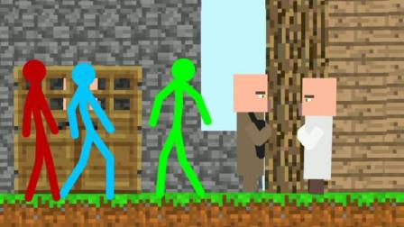 我的世界動畫-火柴人和村民-MTDAG Animation