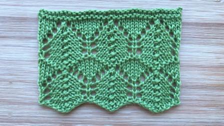 一款简洁唯美的镂空花样,精致的波浪纹,织春夏衣服真漂亮织法视频